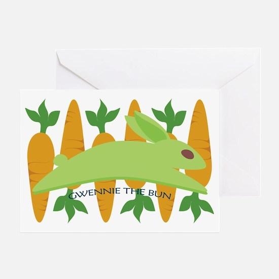 Gwennie The Bun With Carrots Greeting Card