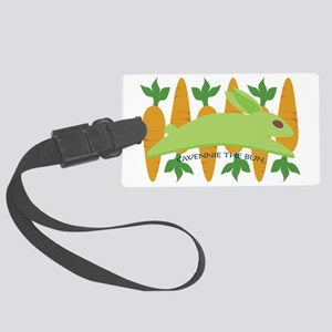 Gwennie The Bun With Carrots Large Luggage Tag