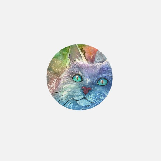 Blue Cat larger Mini Button