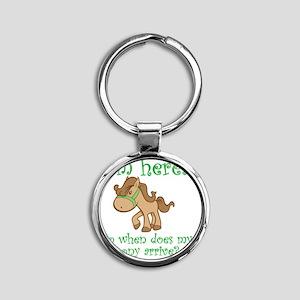 PonyArrive_Green Round Keychain