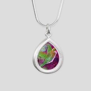 Humming Bird Magic by GG Silver Teardrop Necklace