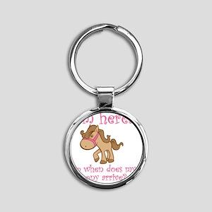 ponyarrive_Pink Round Keychain