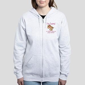 ponyarrive_Pink Women's Zip Hoodie