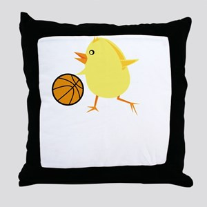 FBC Basketball Chick White Throw Pillow