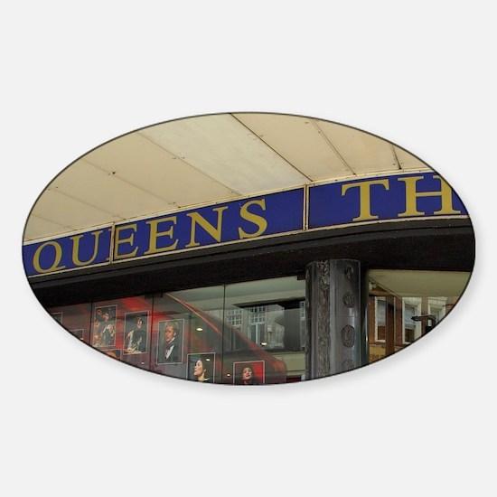 Queen's Theatre. Sticker (Oval)