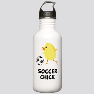FBC Soccer Chick Black Stainless Water Bottle 1.0L
