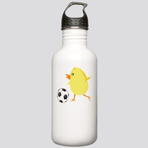 FBC Soccer Chick White Stainless Water Bottle 1.0L