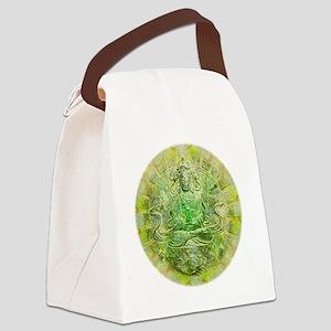 Quan Yin Green Canvas Lunch Bag