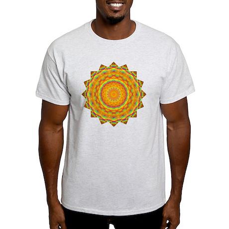 Rainbow Heart Yoga Mandala Shirt Light T-Shirt