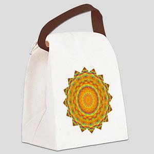 Rainbow Heart Yoga Mandala Shirt Canvas Lunch Bag