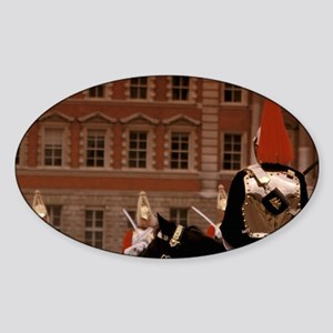 Changing of the horse guarditehall. Sticker (Oval)
