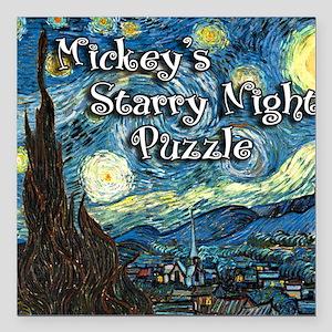 "Mickeys Square Car Magnet 3"" x 3"""