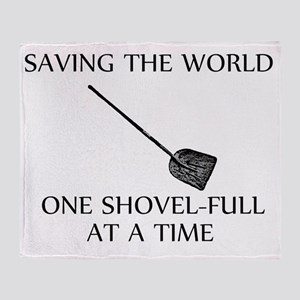 one shovel full at a time tran Throw Blanket