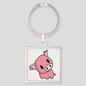 Piggy Square Keychain