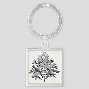 Masonic Working Tools Square Keychain