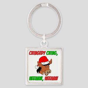 Italian Christmas Donkey Square Keychain