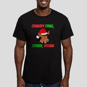 Italian Christmas Donk Men's Fitted T-Shirt (dark)
