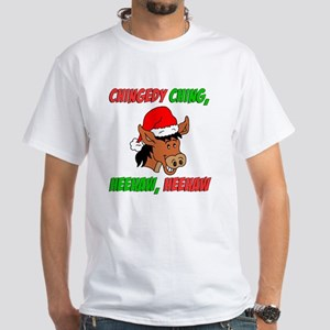Italian Christmas Donkey White T-Shirt