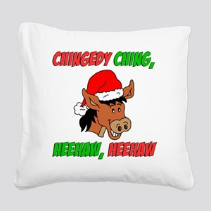 Italian Christmas Donkey Square Canvas Pillow