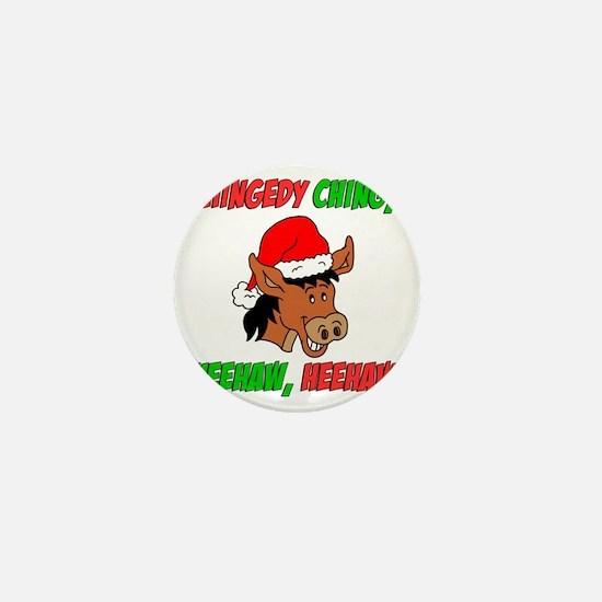 Italian Christmas Donkey Mini Button