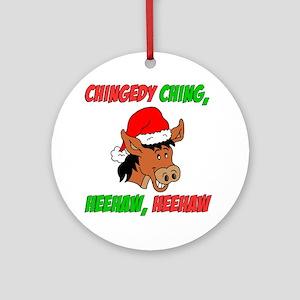 Italian Christmas Donkey Round Ornament