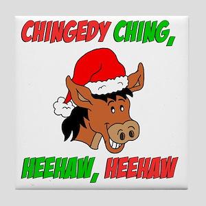 italian christmas donkey tile coaster