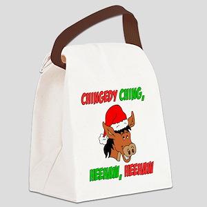 Italian Christmas Donkey Canvas Lunch Bag