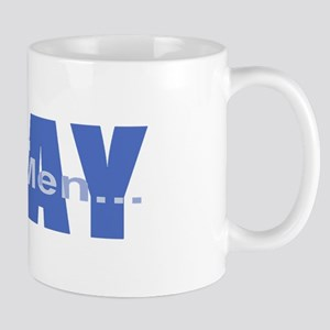Real Men Pray - Azure Mug