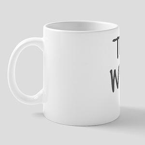 The rock whisperer plain Mug