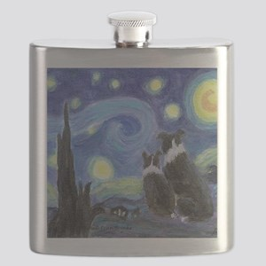 Starry Night for tile coaster Flask