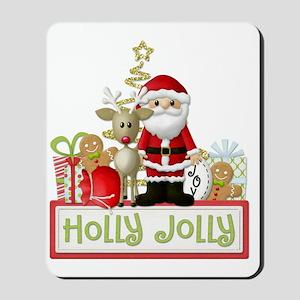 Holly Jolly copy Mousepad
