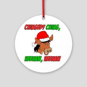 Italian Donkey Apron Round Ornament