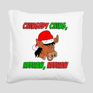 Italian Donkey Apron Square Canvas Pillow