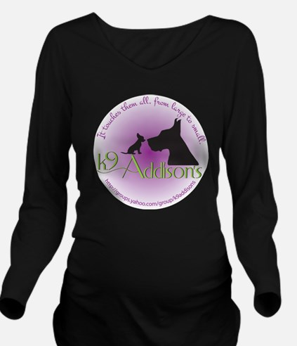 k9addisonsRoundLtBig Long Sleeve Maternity T-Shirt