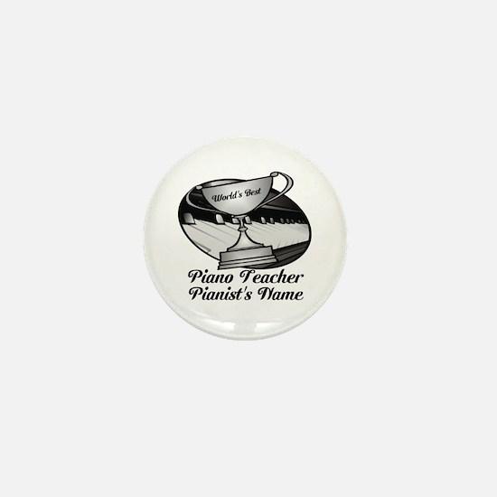 Personalized Piano Teacher Mini Button