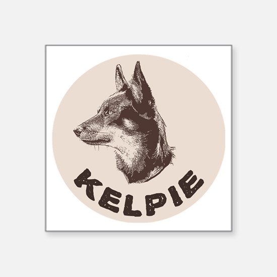 "kelpie Square Sticker 3"" x 3"""