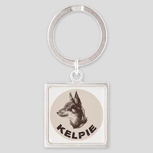 kelpie Square Keychain