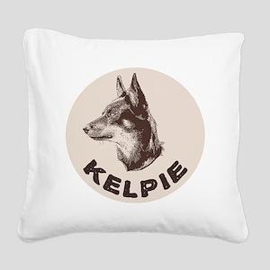 kelpie Square Canvas Pillow