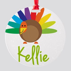Kellie-the-turkey Round Ornament