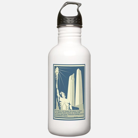 Vimy Ridge Memorial WW Water Bottle