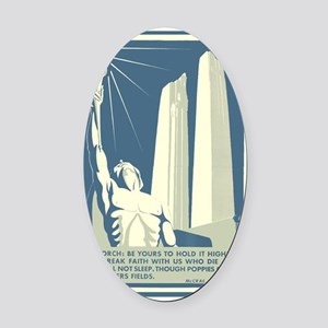 Vimy Ridge Memorial WWI War Poster Oval Car Magnet