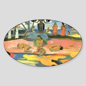 Paul Gauguin Sticker (Oval)