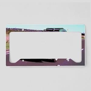 Tin Snail Retro License Plate Holder