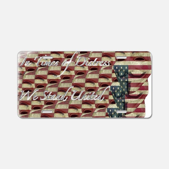 distressed fawkes2 Aluminum License Plate