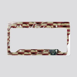 distressed fawkes2 License Plate Holder