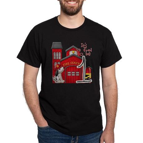 Firetruck-1stbday copy Dark T-Shirt