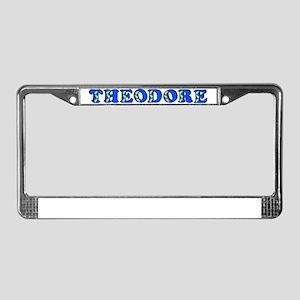 theodore-b-woodcut License Plate Frame