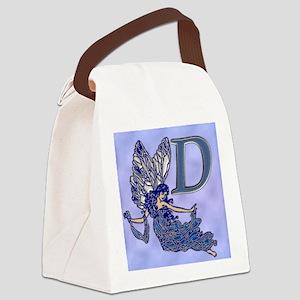 Blue Fairy Monogram BD Canvas Lunch Bag