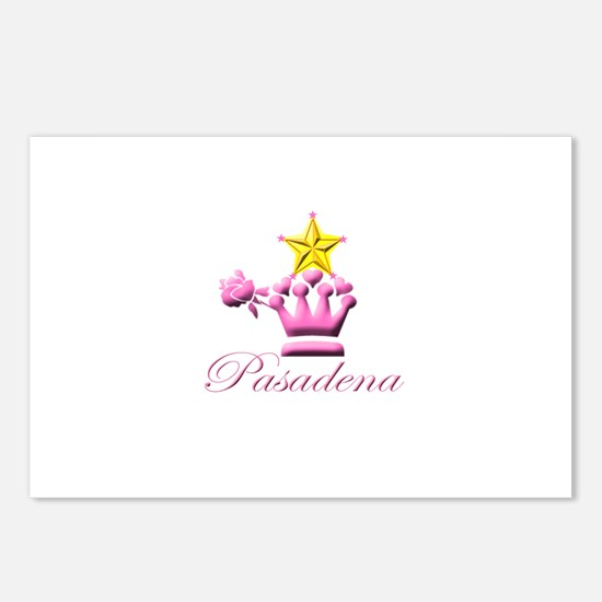 Pasadena Pink Stars Postcards (Package of 8)