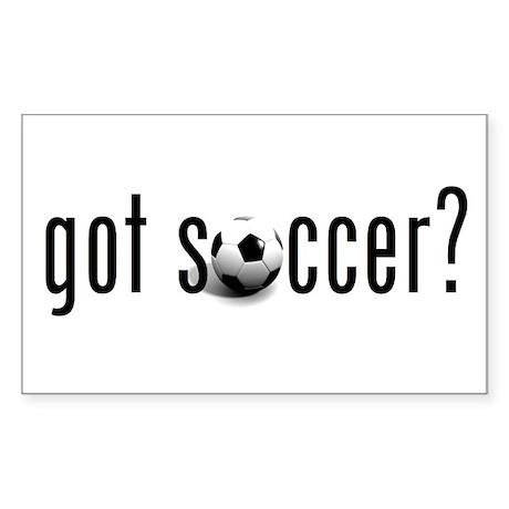 got soccer? Rectangle Sticker
